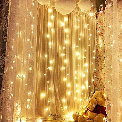 Amazon.com: 300 LED Window Curtain String Lights Fairy Starry for ...