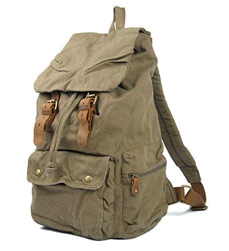 et et ordinateur camping dos à cuir Armee toile sac sac dos Grün sac dos sac Cooler à en randonnée unisexe à vWqnPXZxxF