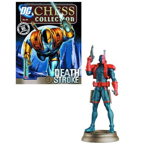 DC Superhero Deathstroke schwarz Pawn Chess Piece & Magazine by Eaglemoss Publications
