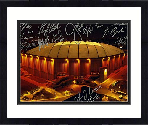 Framed Syracuse Carrier Dome Multi Signed Horizontal 16x20 Photo (14 Sigs) - Steiner Sports -