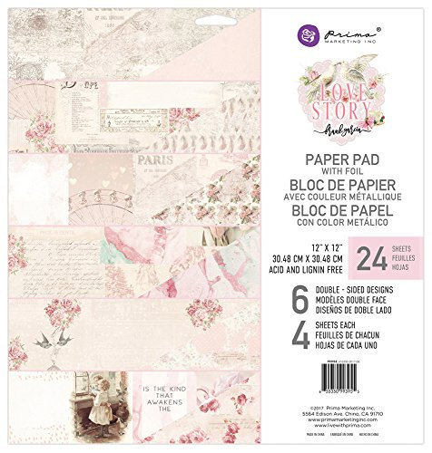 Prima Marketing Love Story-12x12 Paper Pad for sale  Delivered anywhere in USA