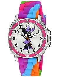 Disney Minnie Mouse MN1104 Reloj con correa tipo atar-teñido de goma, para niños