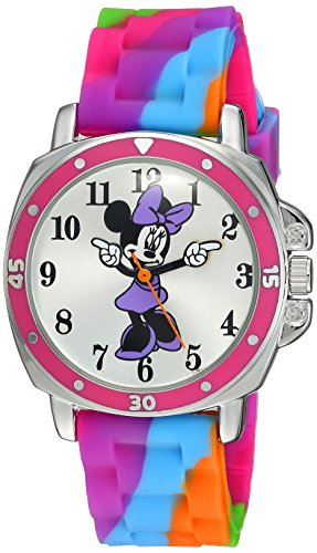 (Disney Kids' MN1104 Watch with Tie Dye Rubber Band )