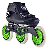 Atom Pro Outdoor Inline Speed Skate 3 Wheel Package with Atom Matrix Wheels - 11.25 3x110 Frame - Size 6