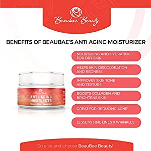 Retinol Anti Aging Moisturizer Cream - Best Skin Care for Face, Neck & Eye Area - Anti Wrinkle Day & Night Cream for Women by BeauBae - Pure Retinol, Hyaluronic Acid & Vitamin E - Made In USA (2 oz)