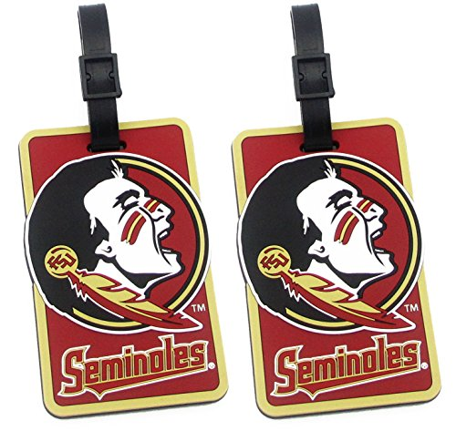 Florida State Seminoles - NCAA Soft Luggage Bag Tag - Set of 2 by NCAA