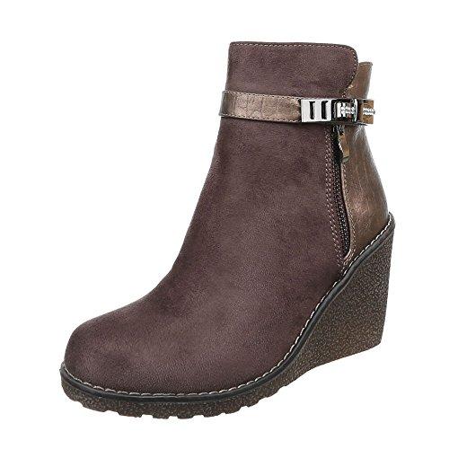 Ital-Design - Plataforma Mujer marrón