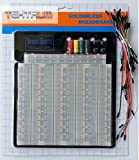 TEKTRUM SOLDERLESS EXPERIMENT PLUG-IN BREADBOARD KIT WITH JUMPER WIRES FOR PROTO-TYPING (3220 TIE-POINTS)