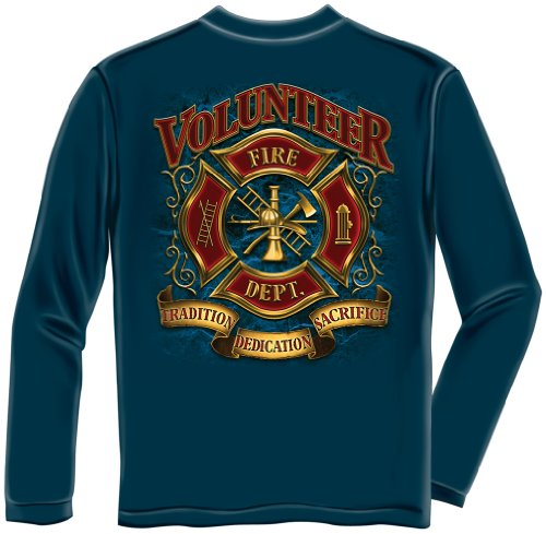 fire Fighter Shirts | Volunteer Fire Fighter Long Sleeve T Shirt FF2085LSXXL
