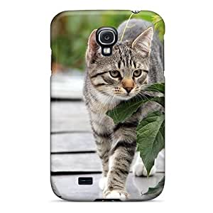 Fashion Tpu Case For Galaxy S4- Cat On The Roof Defender Case Cover