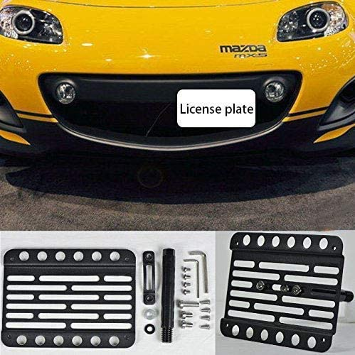 SOOMEE for 2006-2008 Mazda MX-5 Miata NC Front Bumper Tow Hook License Plate Mount Bracket