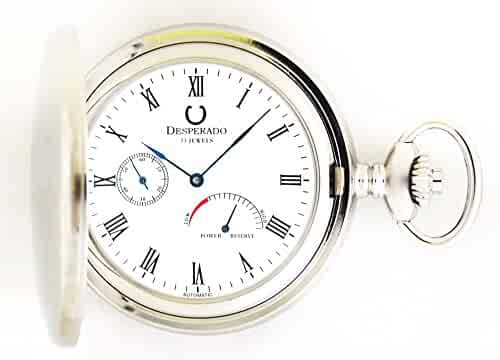 Desperado 530W Automatic Pocket Watch with Power Reserve Indicator 33 Jewels