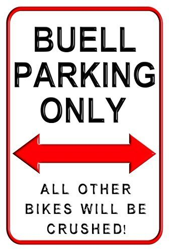 (Buell Parking Only Parking Signs 8 x 12 inches Signs Motorcycle Parking Wall Sign by Valentine)