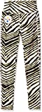 NFL Pittsburgh Steelers Women's Zebra Leggings, Large, Black/Gold