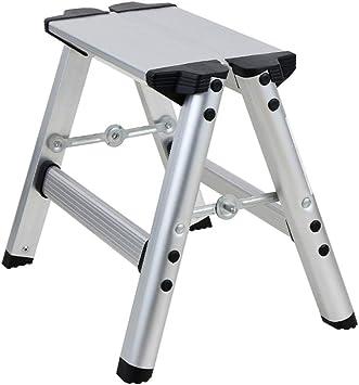 Escalera De Dos Peldaños Escaleras De Tijera Plegables De Aleación De Aluminio Liviana Super Fuerte Escalera De Mano para Baño De Cocina En Casa RV 440lbs (200 Kg) ++: Amazon.es: Electrónica