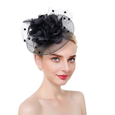 Fascinators Hut für Frauen Kentucky Derby Mesh Federn Tea Party Stirnband
