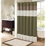 Comfort Spaces Windsor Shower Curtain Khaki