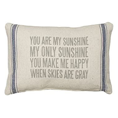 Primitives by Kathy 3-Stripe My Sunshine Pillow, 15.5 by 10-Inch
