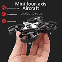 Best Selling Mini Drone - remote drone for kids, 2.4GHz 6-Axis Gyro And 100 Ft Distance 10 Function Remote Key, Led Rainbow Lights, Return Home Function, 360° Gyre Mod Beginners Drone by GuoHao