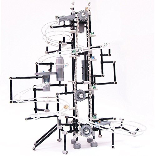 Bits and Pieces - Delux Gear Master Marble Run-Gears Marble Run Game, Building Game, Marble Roller Coaster - The Gear Master 463PC - Executive Coaster Set