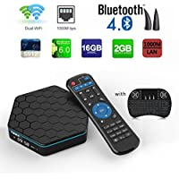 Aoxun Android TV Box T95Z plus CPU Amlogic S912 Octa-core 64 Bits 2GB RAM 16GB ROM with a Wireless Keyboard Dual wifi smart set-top boxes Bluetooth 4.1 and True 4K Playing