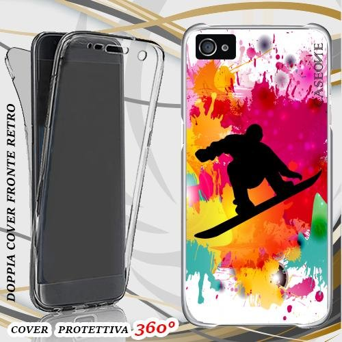 CUSTODIA COVER CASE SNOWBOARD PER IPHONE 5 FRONT BACK