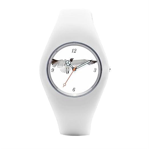 timetoshine deportes relojes Jennifer blanco png silicona reloj de pulsera deportivo: Amazon.es: Relojes
