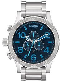 Silver/Dark Blue The 51-30 Chrono Watch by Nixon