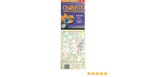 Charlotte North Carolina Laminated Tuffy Map: Map Supply ... on