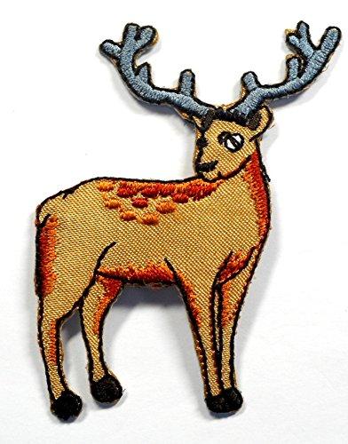 【ノーブランド品】アイロンワッペン ワッペン 動物・魚・生き物ワッペン 刺繍ワッペン シカ 鹿 アイロンで貼れるワッペンの商品画像