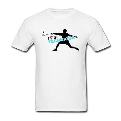 c1089d47dd44d Amazon.com: VEBLEN Men's 2016 Olympic Badminton Champion Design ...