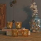 GOLDEN MERCURY T-LIGHT HOLDERHAND CUT INDIAN DECORATIVE WEDDING GIFT CRYSTAL GLASS VINTAGE EUROPEAN DESIGN
