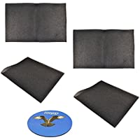HQRP 4-pack Replacement Window Air Conditioner Foam Filter, 24-Inch x 15-Inch x 1/4-Inch + HQRP Coaster