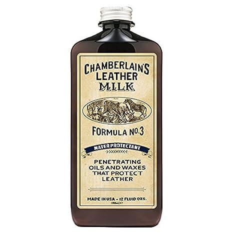 Chamberlain's Leather Milk - Water Protectant No. 3 - Impermeabilizante natural para cuero - Con almohadilla de aplicació n - 0.18 L Chamberlain' s Leather Milk 6.10E+11