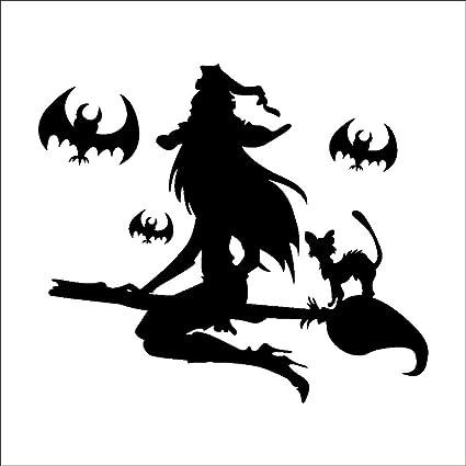 Pegatina de pared para Halloween, diseño de bruja de ...