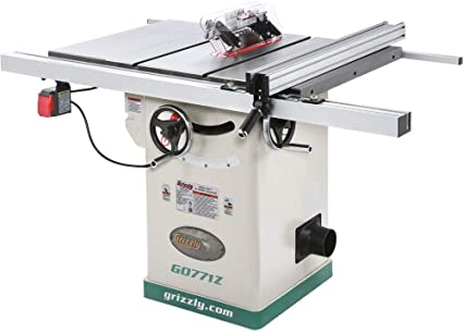 """Grizzly Industrial G0771Z 10"""" 2 HP 120V Hybrid Table Saw"""