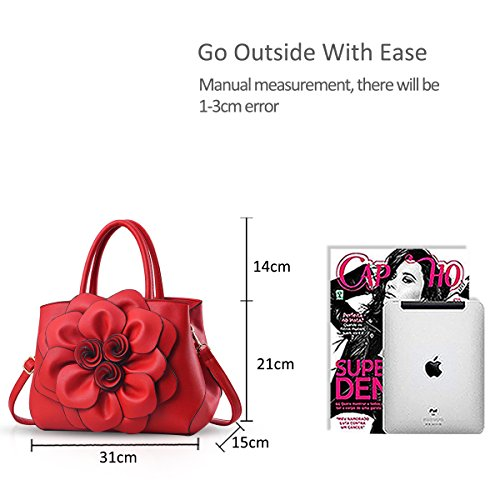 Nicole Crossbody Red Bag Pattern Bag Trendy Flower Woman Shoulder Handbag amp;Doris CcwCfrqH