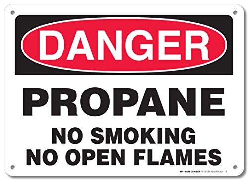 Danger Propane No Smoking No Open Flames Sign - 10