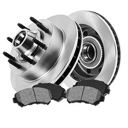 - FRONT 317 mm Premium OE 8 Lug [2] Brake Disc Rotors + [4] Metallic Brake Pads