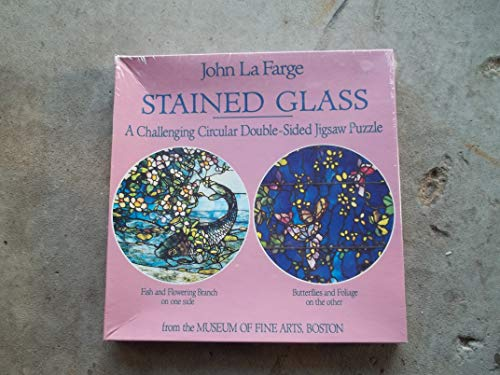 John La Farge stined glass circular double sided jigsaw puzzle - 551 pieces - 20 inches round - NEW