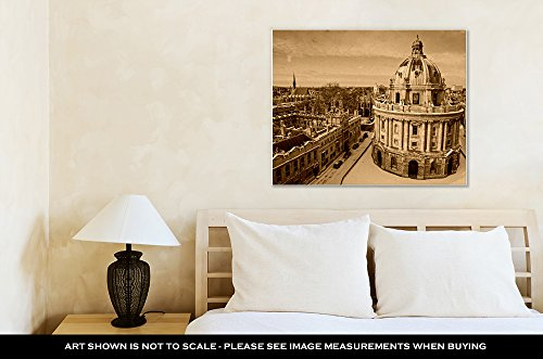 Ashley Canvas Radcliffe Camera Lincoln And Exeter Colleges, Wall Art Home Decor, Ready to Hang, Sepia, 16x20, AG6435025 by Ashley Canvas (Image #1)