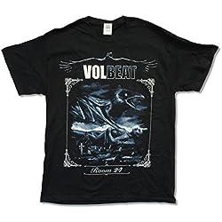 "Adult Volbeat ""Room 24 Tour 2014"" Black T-Shirt (Medium)"