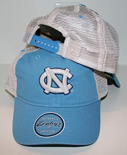 Zephyr University of North Carolina UNC Tar Heels Blue DH University Mesh Trucker Adult Mens/Boys Adjustable Baseball Hat/Cap ()