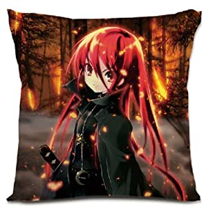 Japanese Anime Decorative Throw Pillow Couch Pillows with Cover Katekyo Hitman Reborn, 16x16 Double-sided Design Sofa Pillow Shakugan no Shana