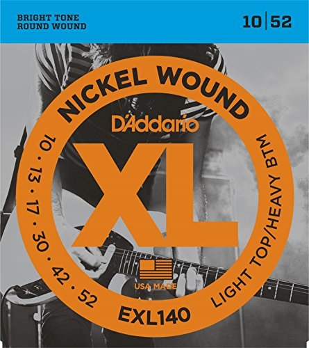 3 Sets of D'Addario EXL140 Nickel Wound Electric Guitar Strings, Light Top/Heavy Bottom, 10-52