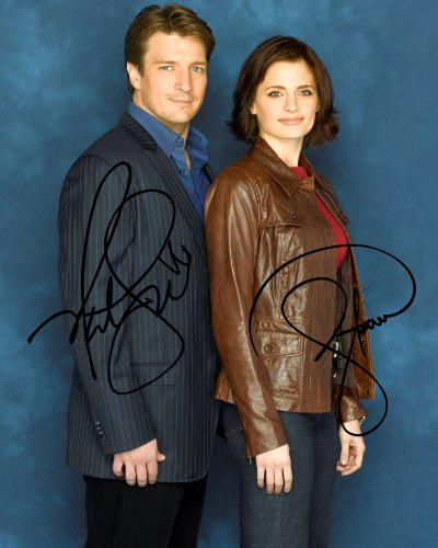Castle TV series reprint signed cast photo Nathan Fillion Stana Katic #1 from Loa_Autographs