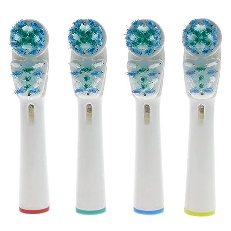 JUNERAIN - Cabezales de Repuesto para cepillos de Dientes Braun Oral B Hygiene Cross Floss (
