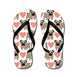 CafePress - Pugs And Hearts - Flip Flops, Funny Thong Sandals, Beach Sandals