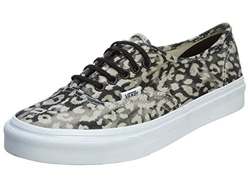 VANS Authentic Slim Vn-0xg6 Shoe, Washed Leopard/Black, 5