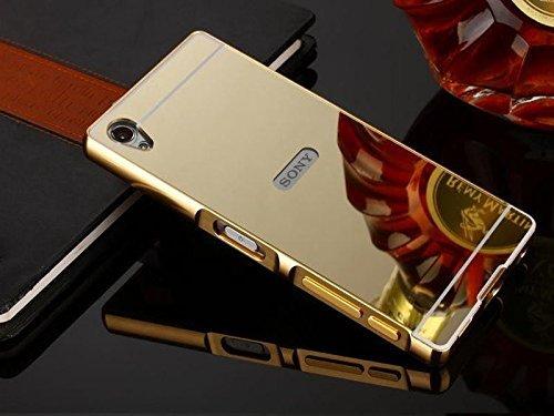 size 40 d3866 c7a38 Johra For Sony Xperia M4 Aqua Back Cover, Gold Golden Acrylic Mirror ...